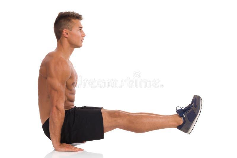 Gymnastiektraining royalty-vrije stock foto