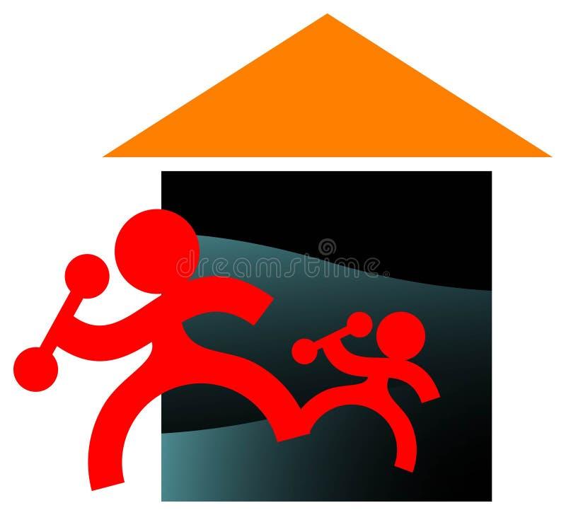 Gymnastik stock abbildung