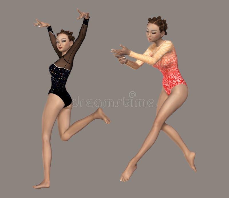 Gymnastik vektor abbildung