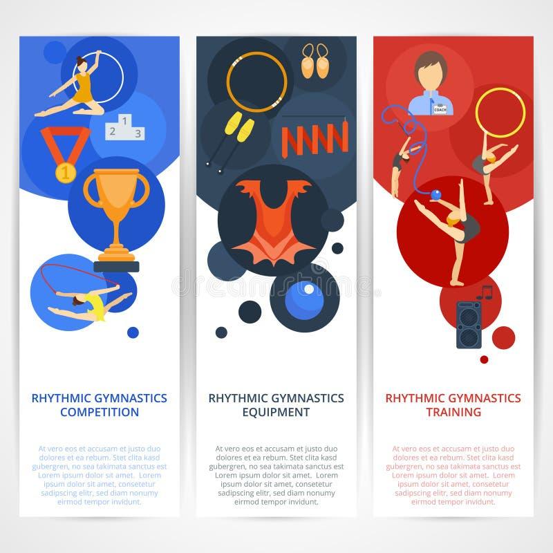 Gymnastik-Fahnen flach lizenzfreie abbildung