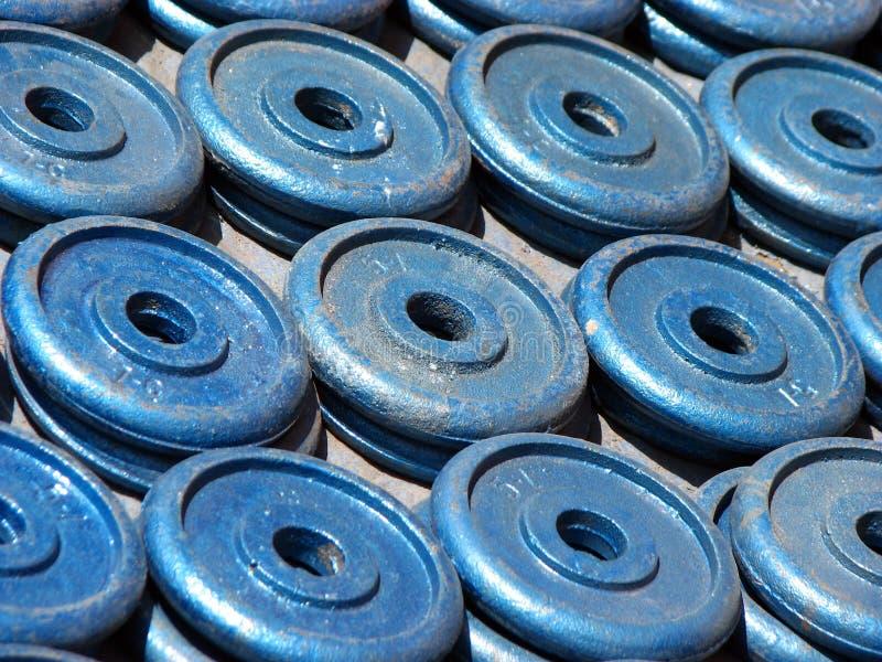 Gymnastik-Gewichte stockfoto