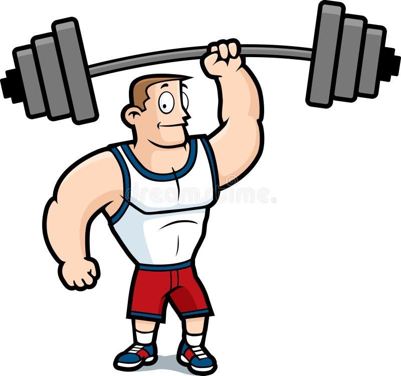 Gymnastik-Kerl lizenzfreie abbildung