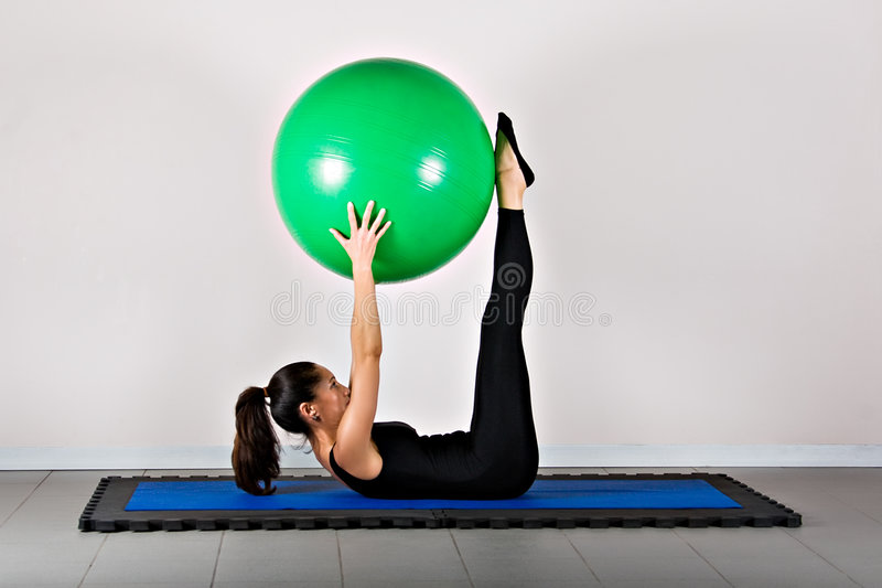 Gymnastik pilates stockbilder