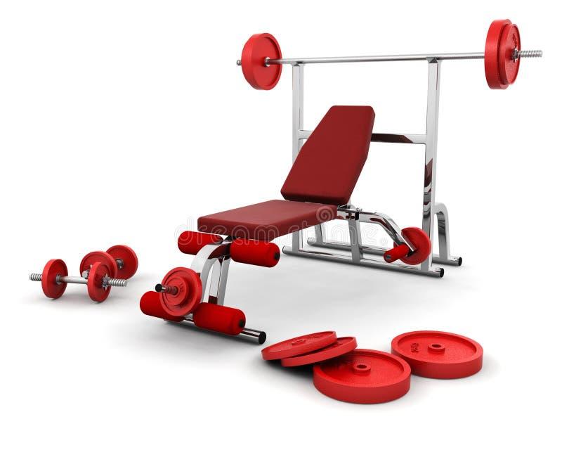 Gymnastikausrüstung stock abbildung