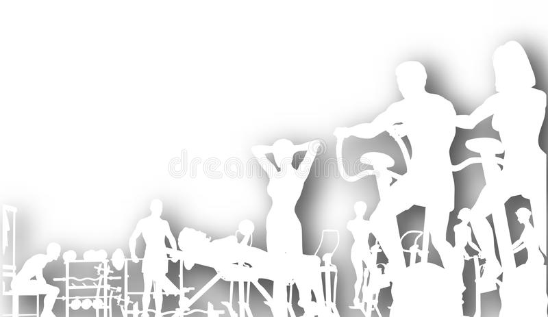 Gymnastikausschnitt stock abbildung