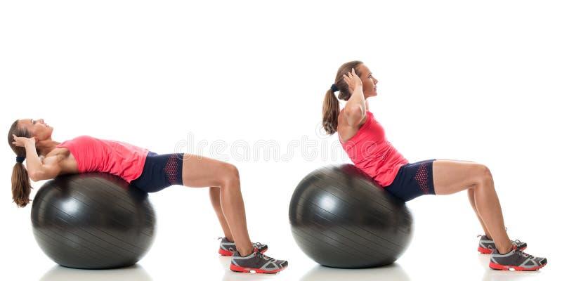 Gymnastikball-Übung stockbilder