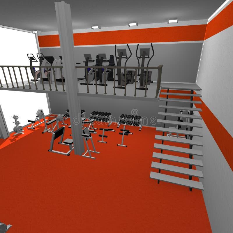 Gymnastikinnenraum vektor abbildung