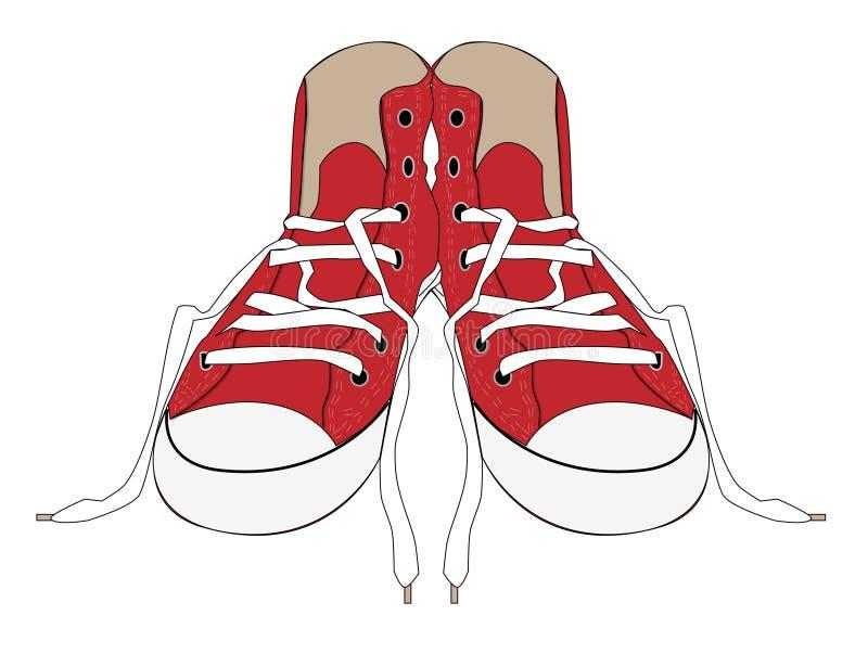 gymnastiksko stock illustrationer