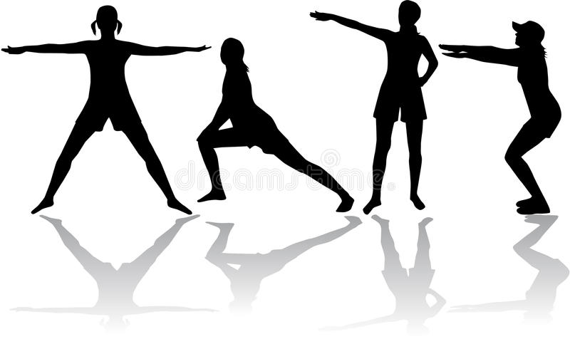 Gymnastique illustration stock