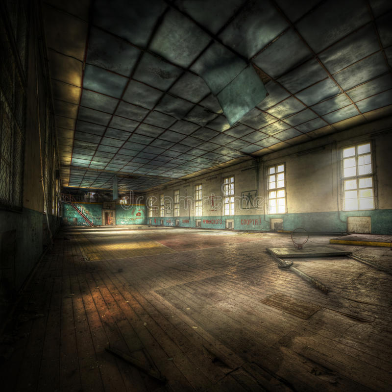 Gymnastique abandonnée photo libre de droits