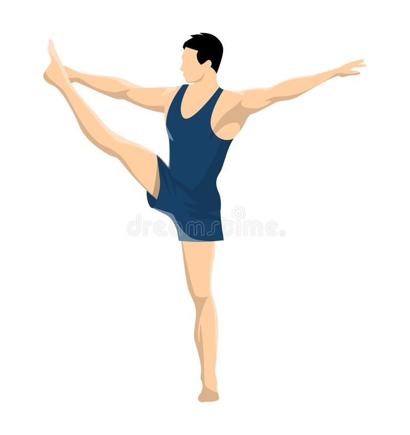 Gymnastique avec les hommes illustration stock