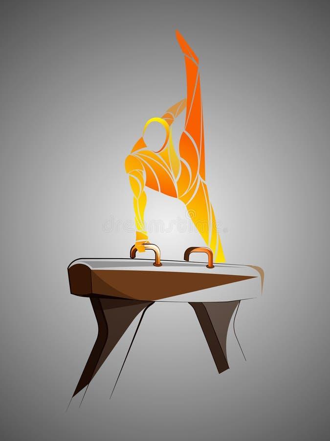 Gymnastique de cheval de pommeau illustration libre de droits