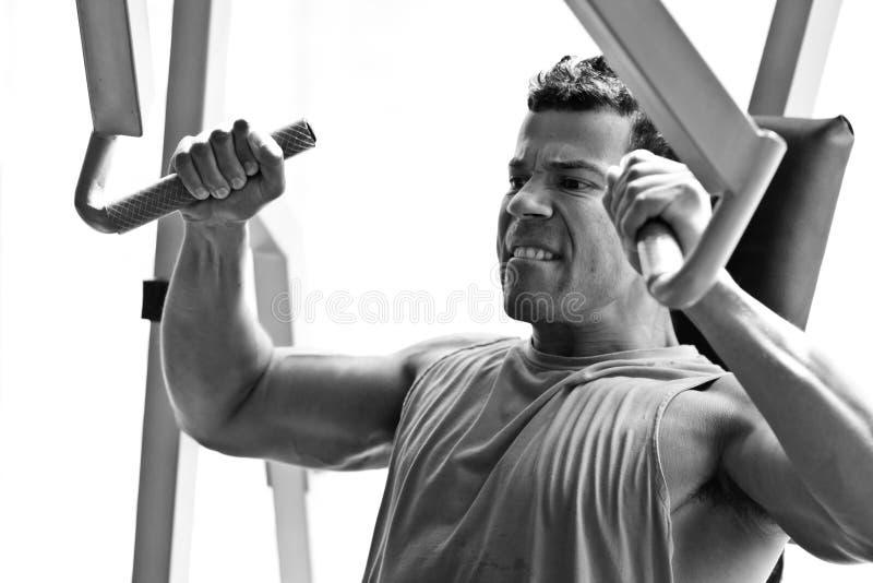 Gymnastique de formation de Bodybuilder photos libres de droits