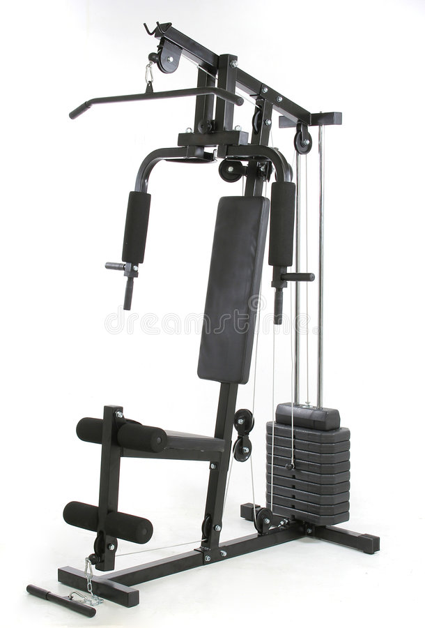 Gymnastique et machine de muscle photographie stock libre de droits