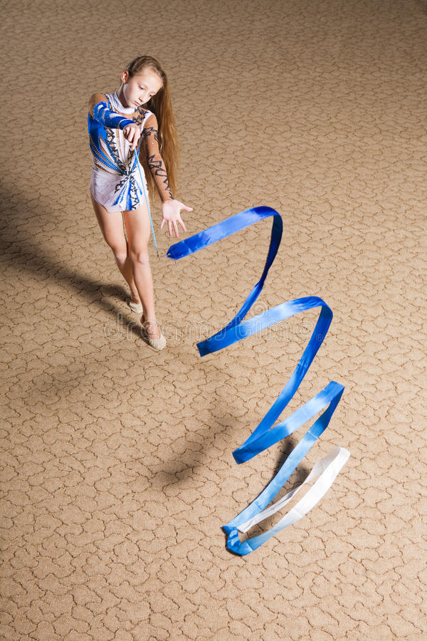 Gymnastique rhythmique photo stock