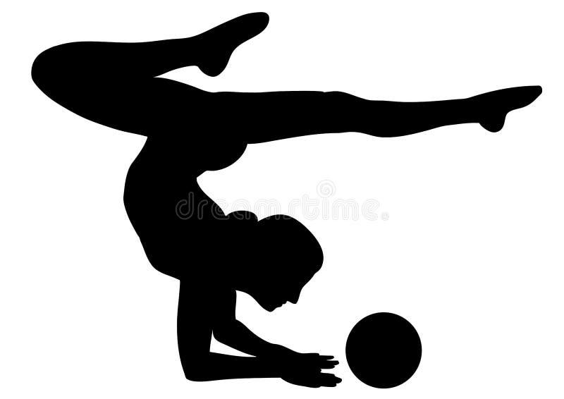 Gymnastique rhythmique 2 - graphisme vectoriel illustration de vecteur