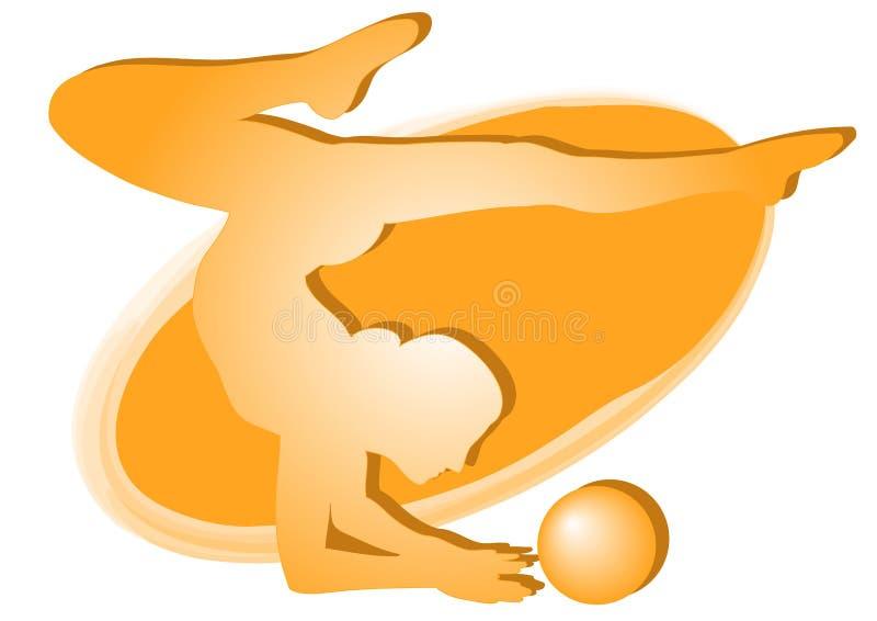 Gymnastique rhythmique 2 - graphisme vectoriel coloré illustration de vecteur