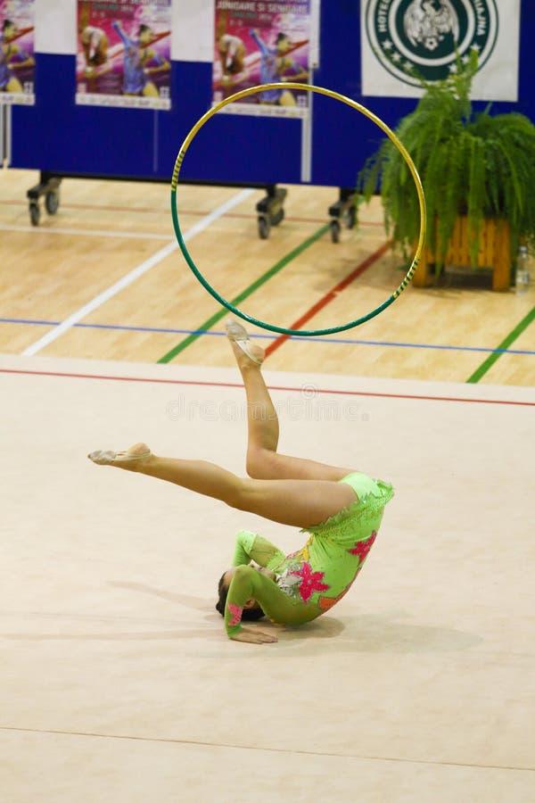 Gymnastique rhythmique photo libre de droits