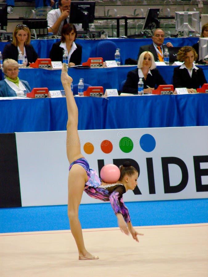 Gymnastique rhythmique image libre de droits