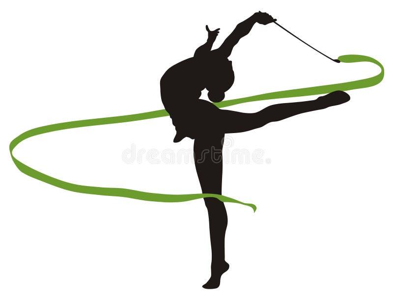 Gymnastique rhythmique illustration de vecteur