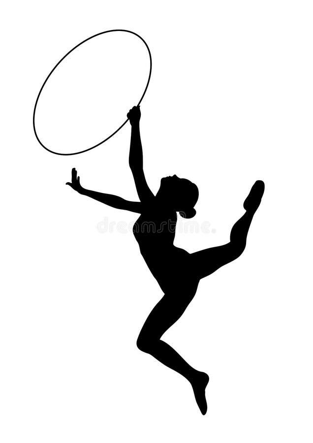 Gymnastique rhythmique - graphisme vectoriel illustration libre de droits