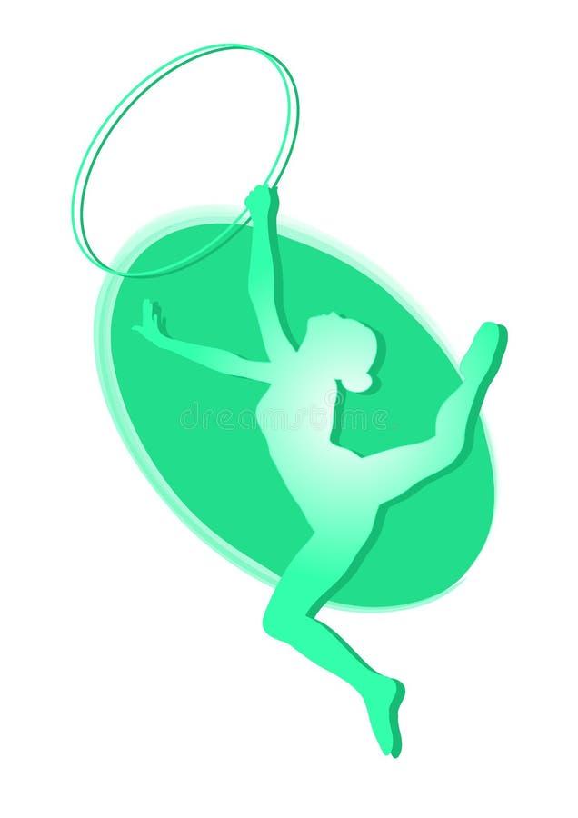 Gymnastique rhythmique - graphisme vectoriel coloré illustration stock