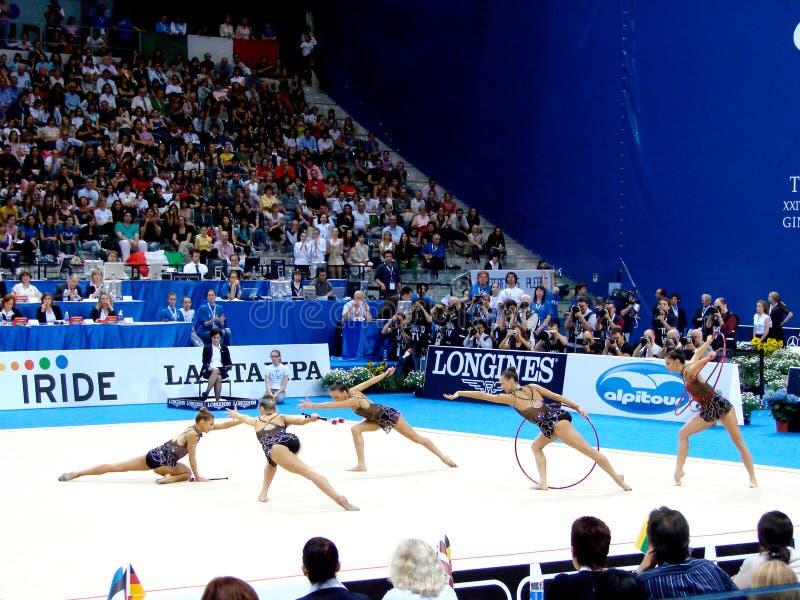 Gymnastique rhythmique : La Bulgarie photo libre de droits