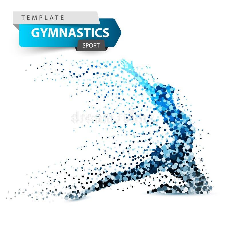Gymnastique, sport - pointillez l'illustration sur le fond blanc illustration de vecteur