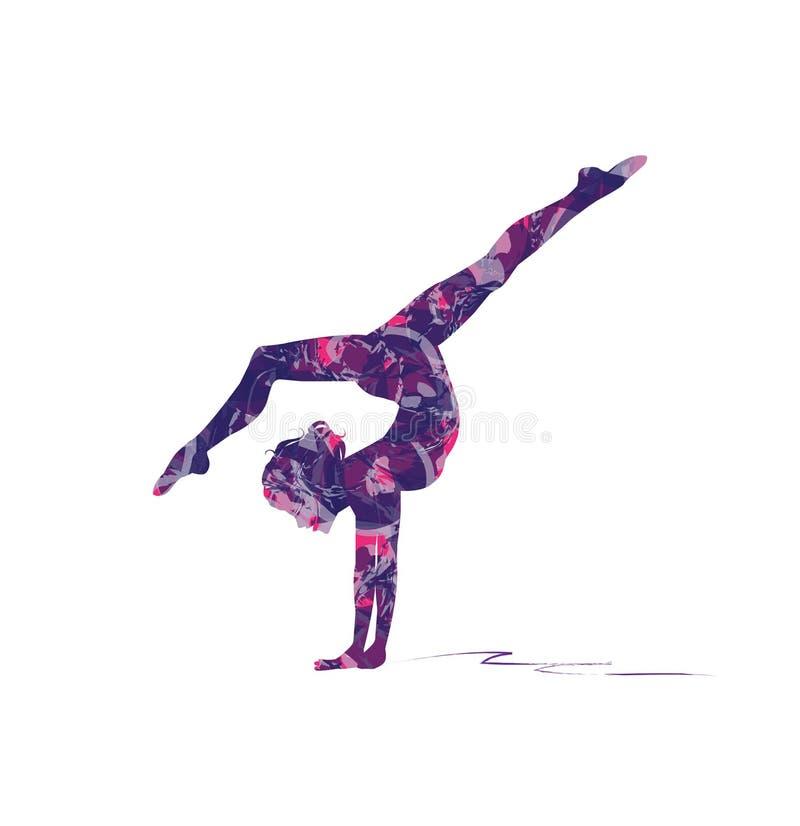 gymnastique sur le faisceau illustration stock