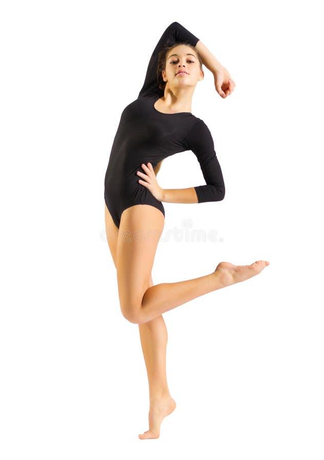 Gymnastisk förlovad konst för flicka royaltyfri foto