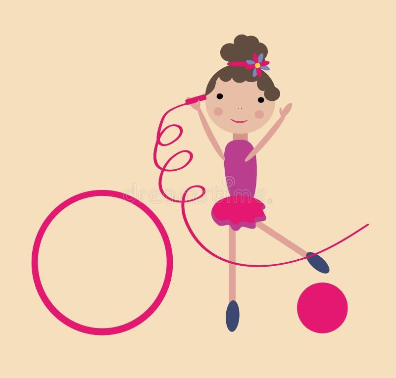 gymnastisk flicka vektor illustrationer