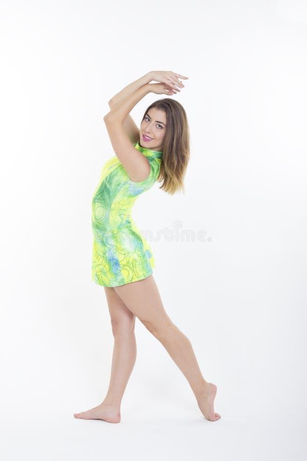 gymnastisk flicka arkivbild