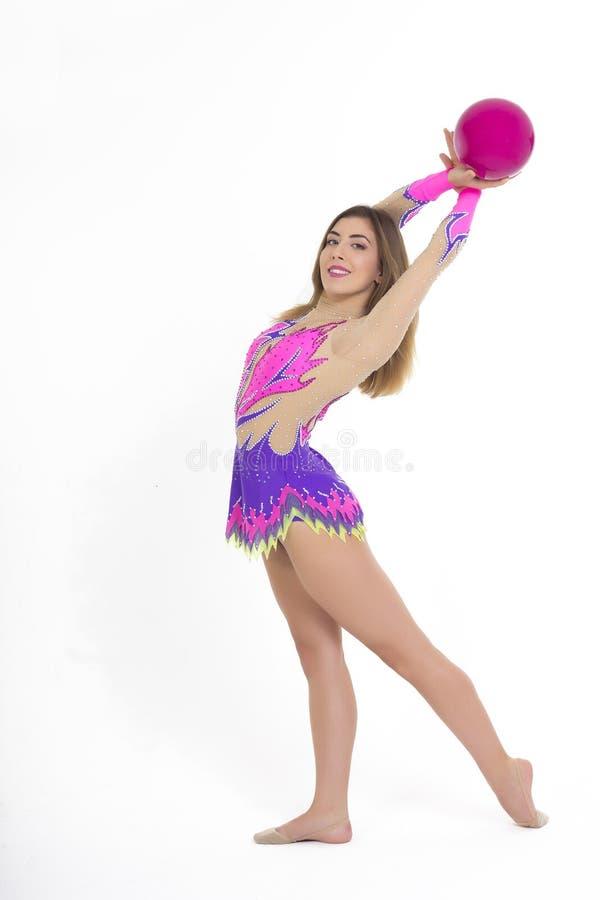 gymnastisk flicka arkivbilder