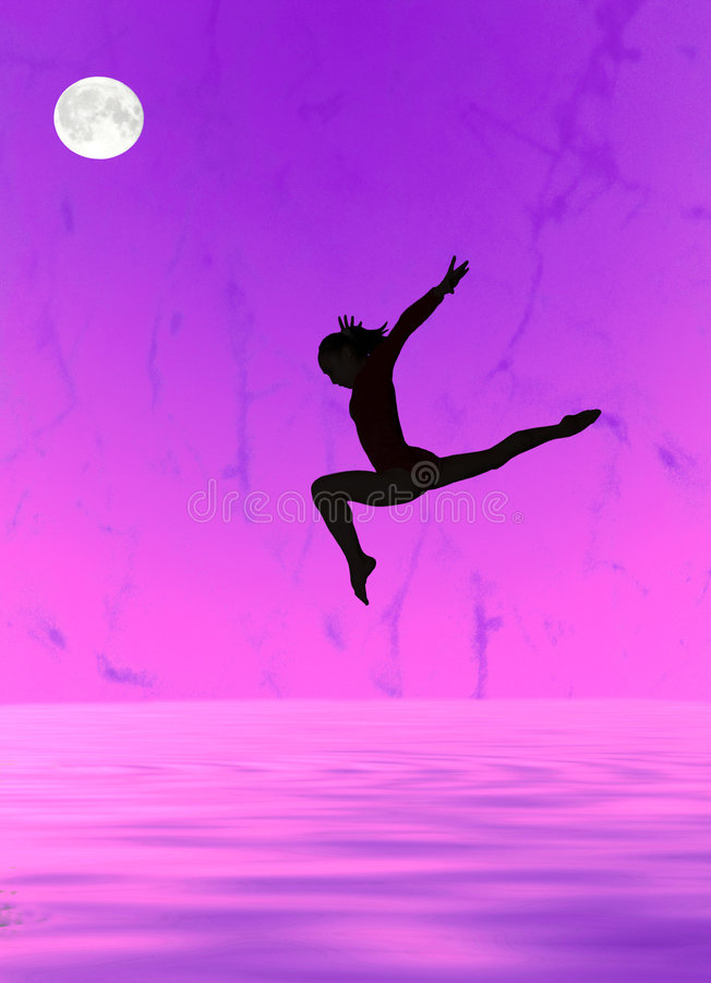 gymnastisk silhouette stock illustrationer
