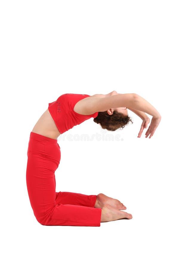 gymnastiskt gör kvinnan fotografering för bildbyråer