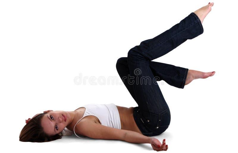 gymnastkvinna arkivbild