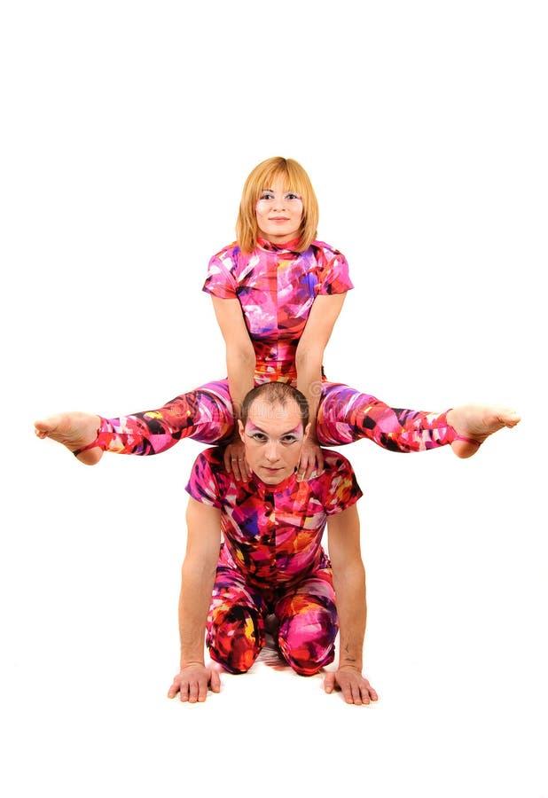 gymnastpar royaltyfri bild