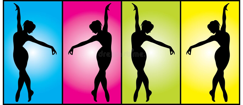 Download Gymnasts stock vector. Illustration of dancer, development - 13850053