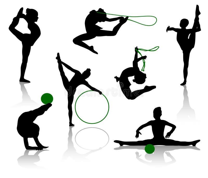 Download Gymnasts stock vector. Illustration of professional, gymnastics - 6083581