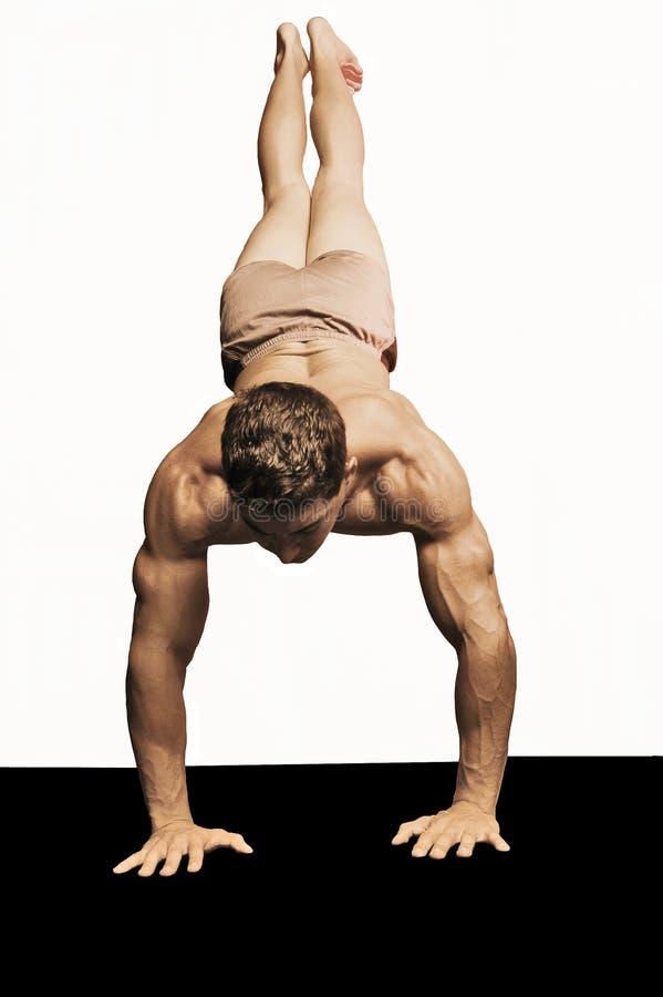 gymnist isolerad manlig royaltyfri bild