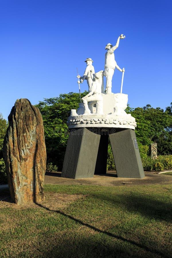Gympie - Goldgräber-Statue lizenzfreie stockfotos