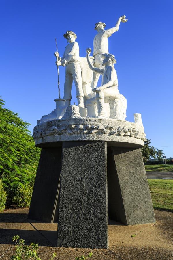 Gympie - Goldgräber-Statue lizenzfreie stockfotografie