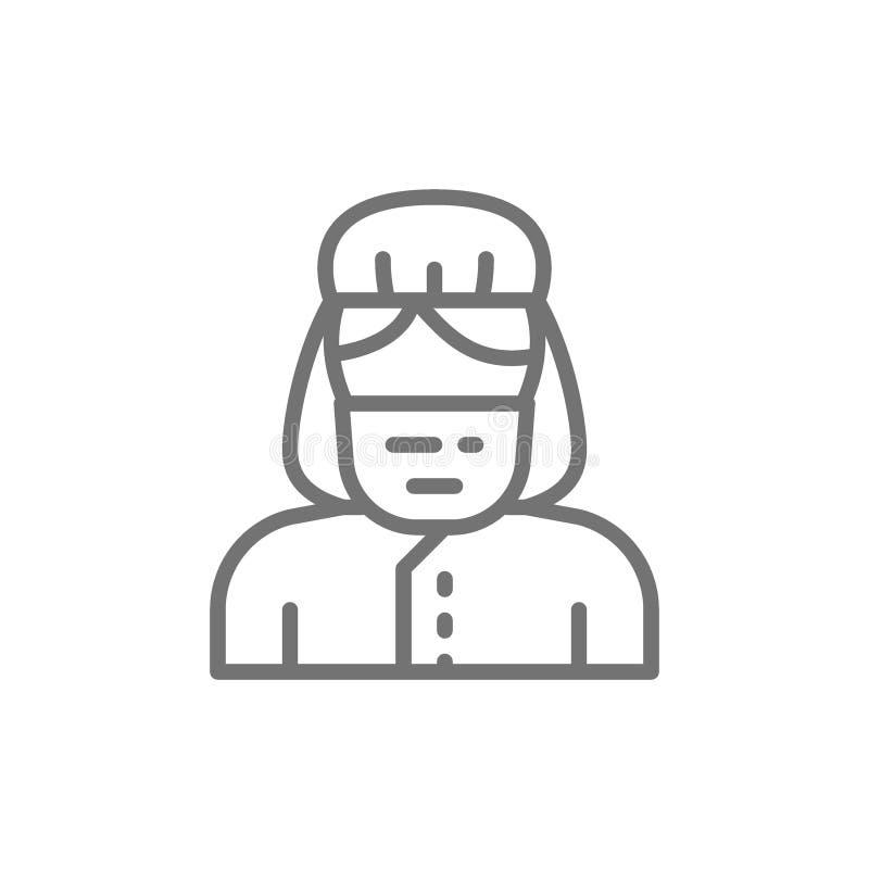 Gynaecoloog, verloskundige, het pictogram van de artsenlijn royalty-vrije illustratie