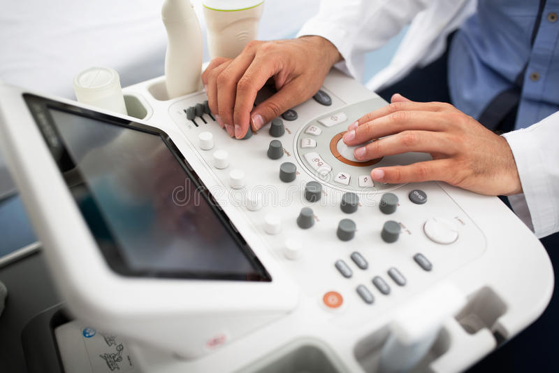 Gynecologist clinic examination stock photography