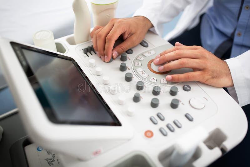 Gynecologist kliniki egzamin fotografia stock