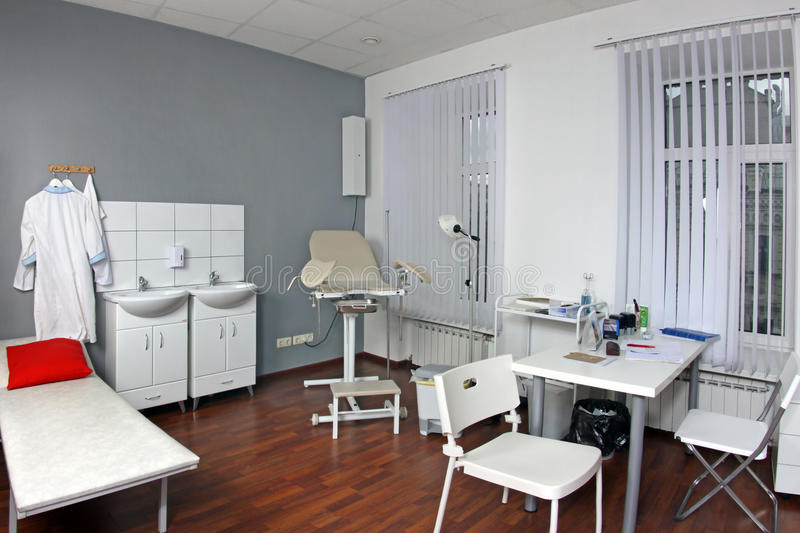 Gynecologist's office. Interior of gynecologist's office in hospital royalty free stock photo