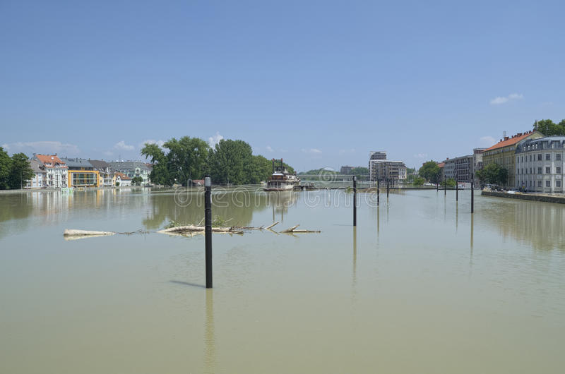 Download GYOR, HUNGARY/EUROPE - JUNE 8TH 2013: Flooding Danube River In Gyor Downtown, Hungary Editorial Stock Image - Image: 31820509
