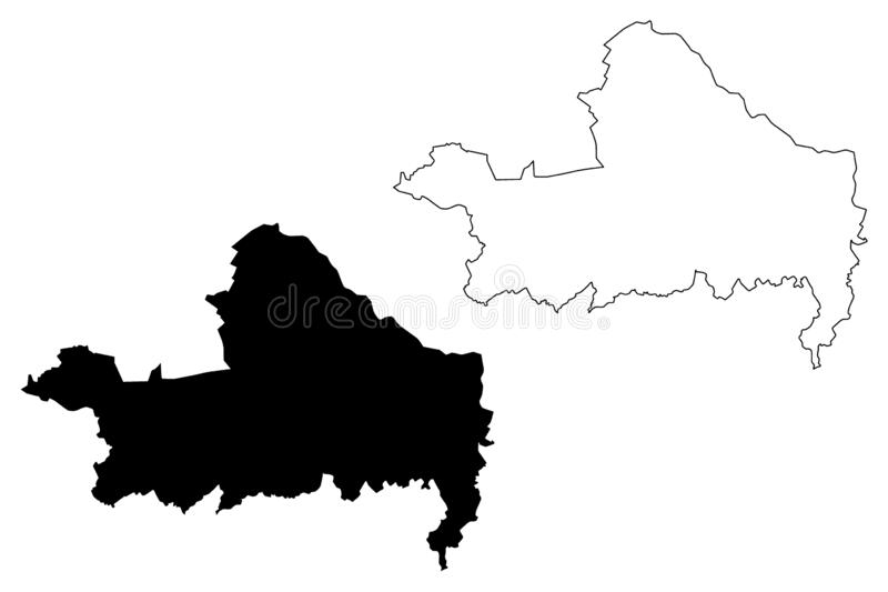 Gyor-Moson-Sopron County Hungary, Hungarian counties map vector illustration, scribble sketch Győr-Moson-Sopron Gyor Moson. Sopron map vector illustration