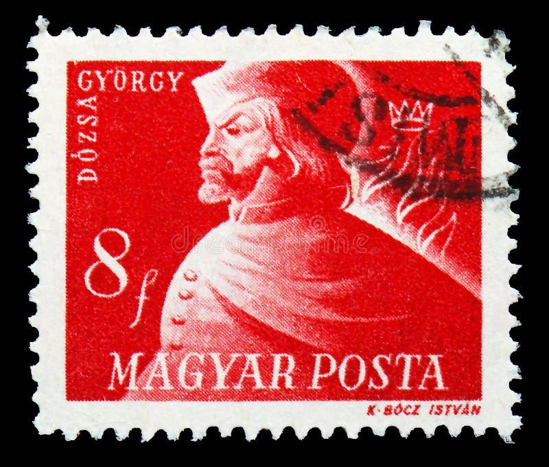 Gyorgy Dozsa 1474-1514, Hongaarse Vrijheidsvechters serie, circa 1947 royalty-vrije stock foto's