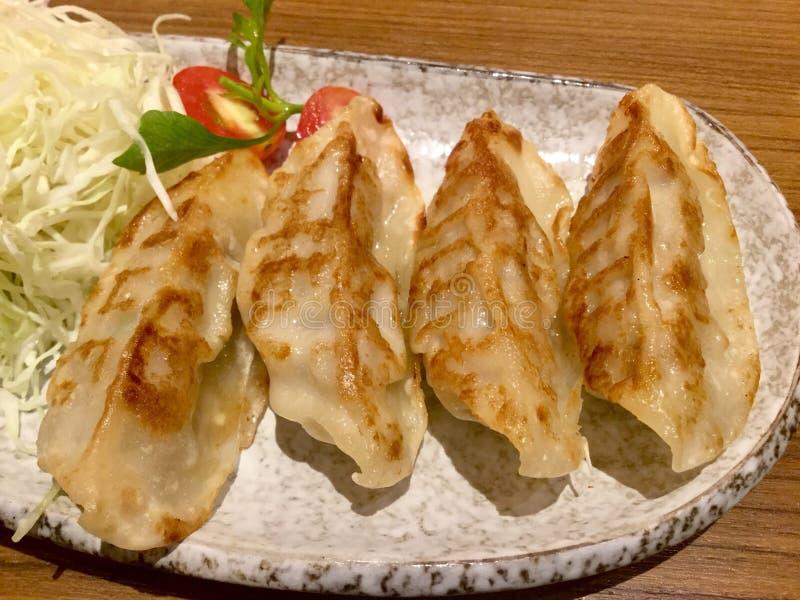 Gyoza Japonés, Fried Dumpling imagen de archivo libre de regalías